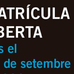 Matricula oberta 2014-2015